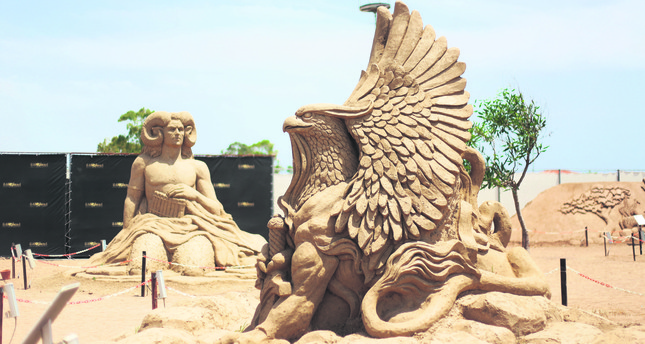 Dazzling sand sculptures ready to be seen