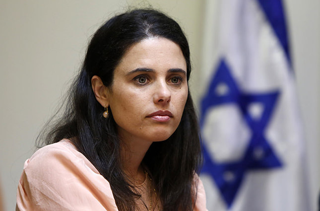Israeli Knesset Member Ayelet Shaked of the far-right Jewish Home party is seen on May 6, 2015 during the negotiation with the Likud at the parliament in Jerusalem. (AFP Photo)