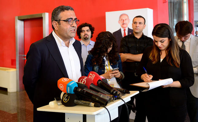 Tanrıkulu during the press conference (AA Photo)
