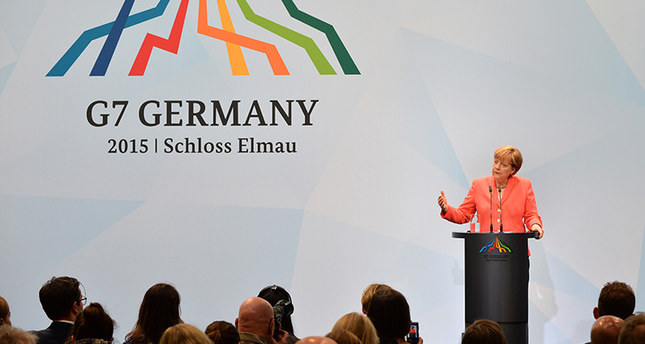 German Chancellor Angela Merkel delivers a press conference during the G7 summit at Elmau Castle in Elmau, Germany, 08 June 2015 EPA Photo