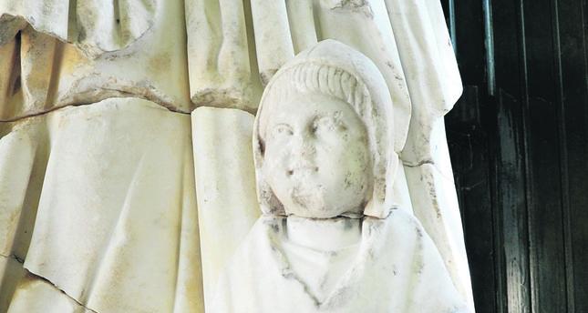 Head of mythological figure found in Perga
