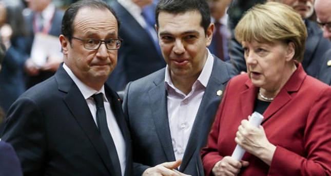 Merkel, Hollande, Tsipras agree to intensify debt talks
