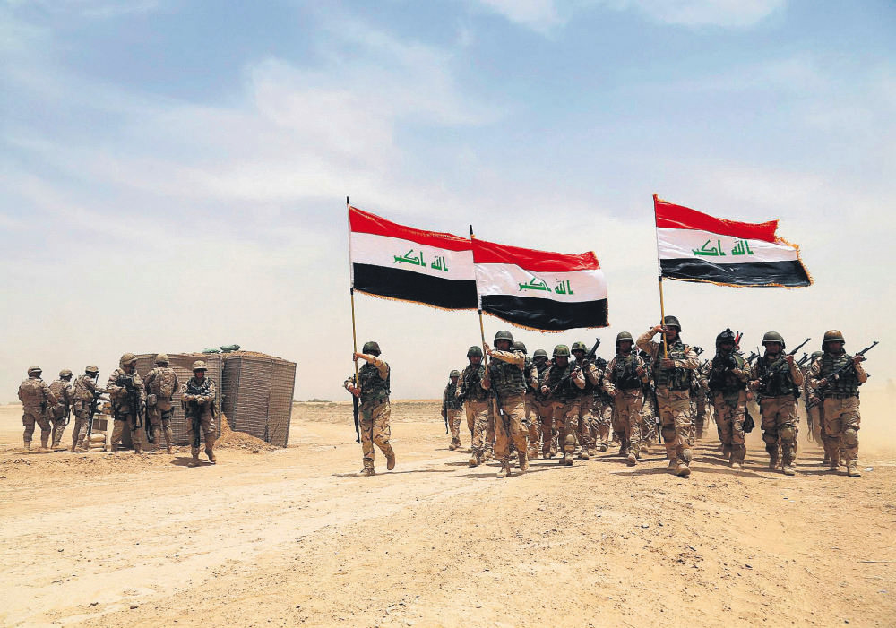 U.S. soldiers participated in a training mission with Iraqi army soldiers outside Baghdad, Iraq, on May 27.