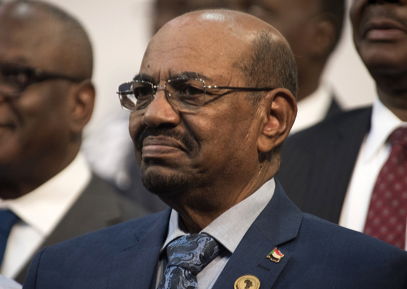 Sudanese President Omar al-Bashir is seen during the opening session of the AU summit in Johannesburg, Sunday, June 14, 2015 (AP Photo)