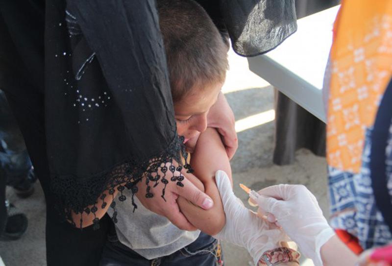 Turkey vaccinates 6,000 Syrian children (AA Photo)