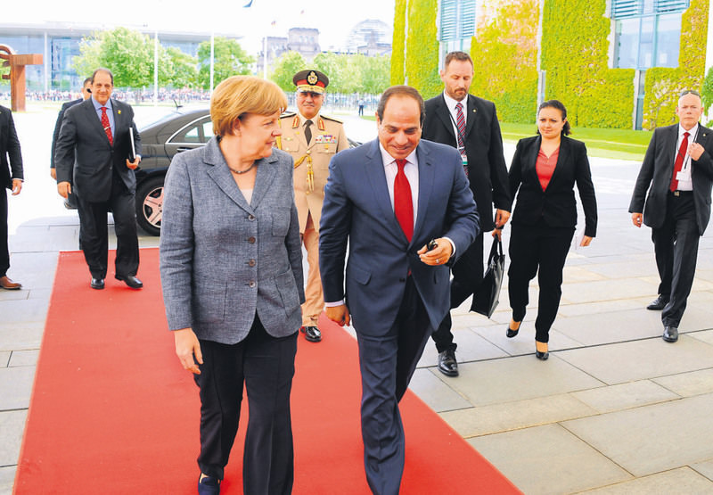 Egyptian President Abel Fattah el-Sissi was warmly welcomed by German Chancellor Merkel two weeks ago in Berlin.