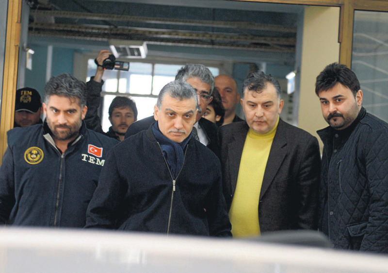 Hidayet Karaca (C), CEO of the  Samanyolu media group, was arrested last year on charges of membership to a criminal organization and spreading propaganda for that organization by broadcasting TV shows defaming Tahu015fiyeciler.