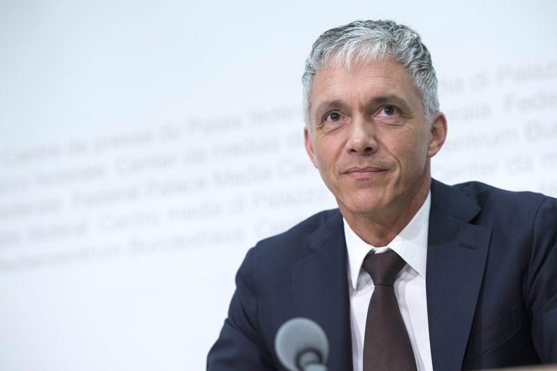 Switzerlandu2019s attorney general Michael Lauber speaks at a press conference in Bern, Switzerland, Wednesday, June 17, 2015 (EPA Photo)
