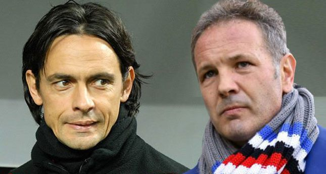 Inzaghi (L) and Mihajlovic