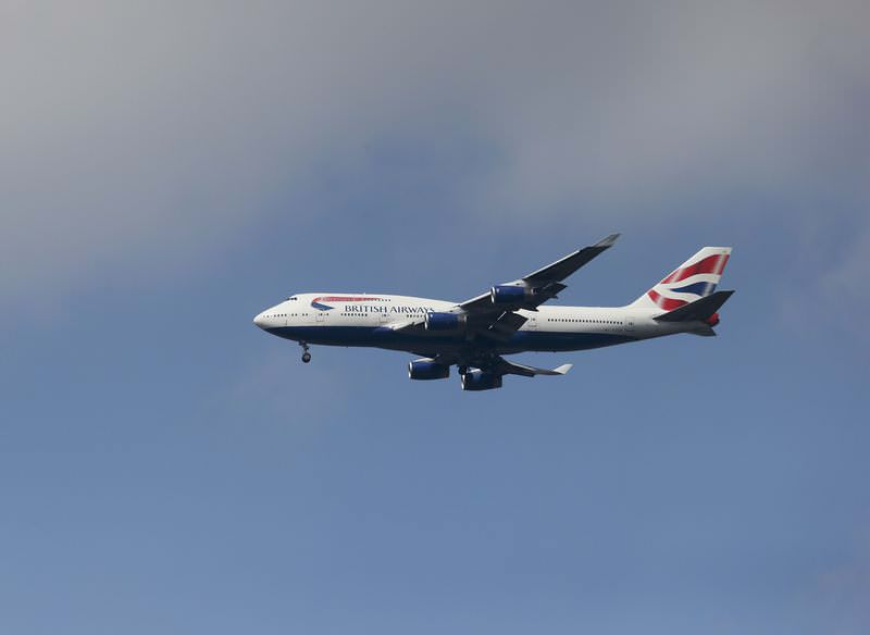 A British Airways 747 approaches Heathrow airport over Richmond in west London, June 19, 2015. (Reuters Photo)