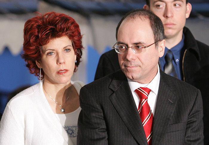 Israeli Interior Minister Silvan Shalom and his wife Judy Shalom Nir-Mozes (AFP Photo)