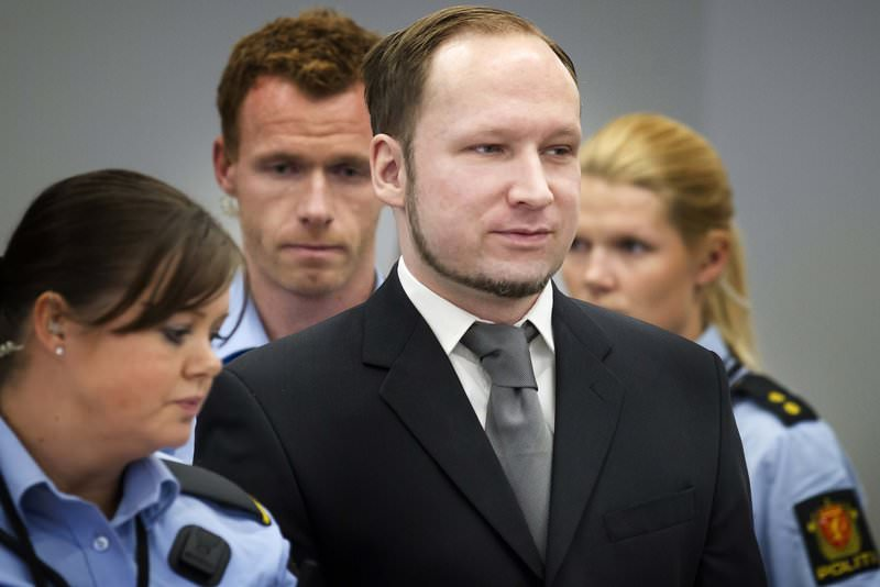 Anders Behring Breivik is seen in the courthouse during his trial for the murder of 77 people, in Oslo May 3, 2012 (Reuters Photo)