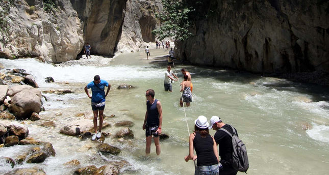 Saklıkent Canyon a cool haven for summer vacations