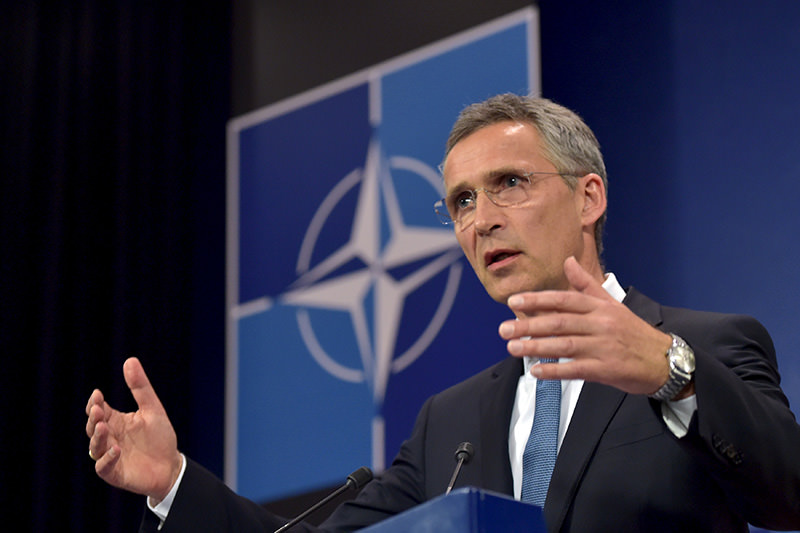 NATO Secretary General Jens Stoltenberg addresses a news conference after a meeting of the North Atlantic Council (NAC) in Defense Ministers session at the NATO headquarters in Brussels, Belgium, June 24, 2015 (Reuters Photo)