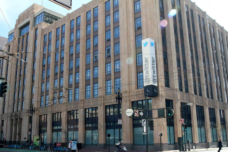 Twitter headquarters in San Francisco, California. Twitter has offices in 18 cities around the world, but it has no plans to open one in Istanbul.
