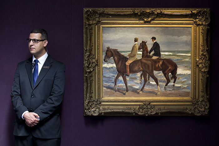 'Two Riders on a Beach' by German artist Max Liebermann painted in 1901 (AFP Photo)