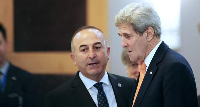 FM Çavuşoğlu, U.S. Secretary of State Kerry discuss Kobani attack, Tal Abyad