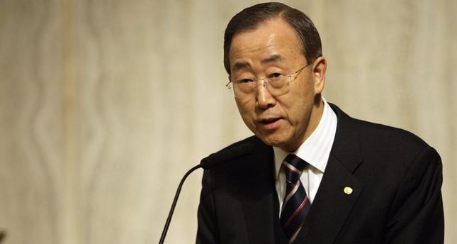UN Secretary-General Ban Ki-moon speaks during a prayer service for earthquake victims in Haiti, on Wednesday, Jan. 20, 2010 in New York (AP)