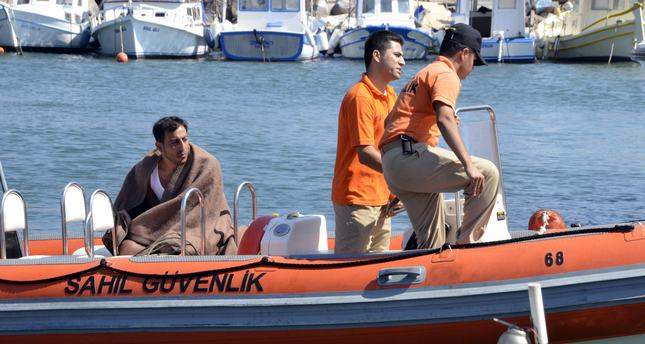 Migrant boat capsizes in the Aegean Sea killing Turkish captain