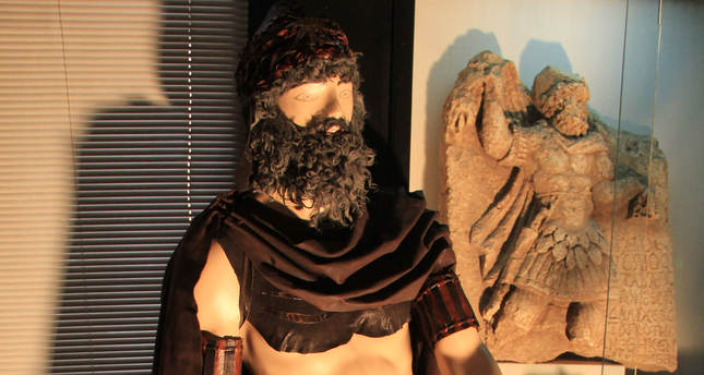 Commagene warrior attire exhibited in eastern Anatolian museum