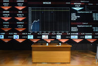 A view of a display board showing the evolution of the WIG20 index at the Warsaw Stock Exchange, in Warsaw, Poland, 29 June 2015 (EPA Photo)