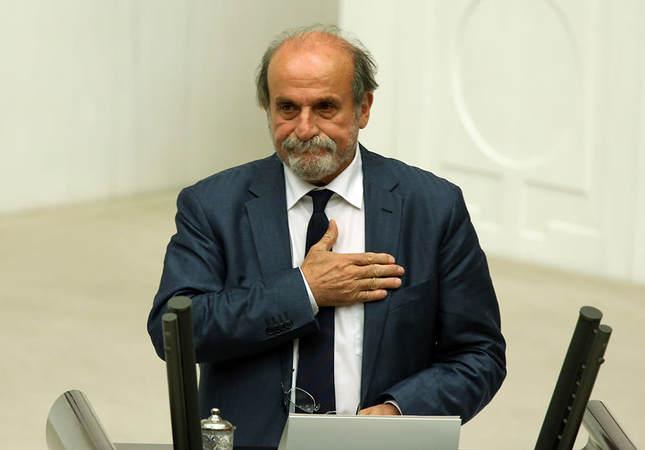 Kürkçü during parliamentary oath ceremony held on June 24 (AP Photo)