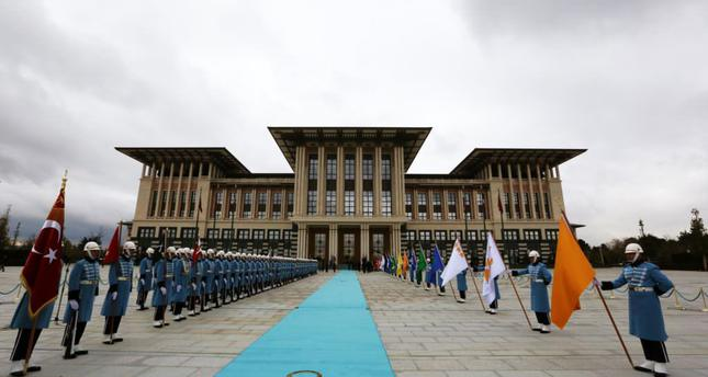 The Presidential Palace complex, reminiscent of the Seljuk style, was opened last year in the Atatürk Forest farm in western Ankara.