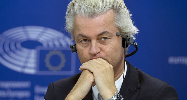 Dutch far-right Party for Freedom (PVV) leader Geert Wilders attends a joint news conference at the European Parliament in Brussels, Belgium, June 16, 2015 (Reuters Photo)