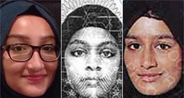 A handout combo photograph showing the three British schoolgirls who joined ISIS in February, 2015