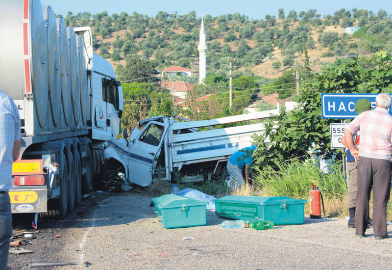 The scene of the accident. It was deadliest in recent memory for farm workers who hit the road before dawn and often in unsafe vehicles.