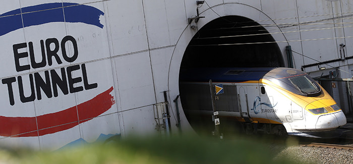 A high-speed Eurostar train enters the Channel tunnel in Coquelles, near Calais, northern France, June 24, 2015 (Reuters Photo)