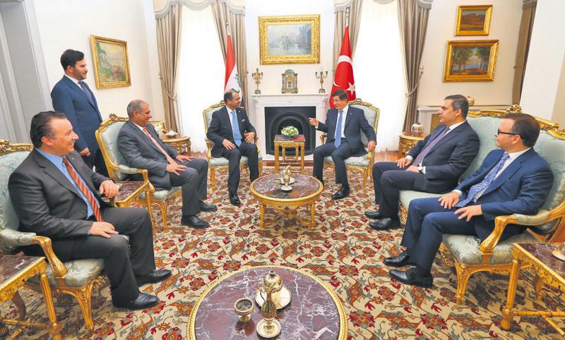 Iraqi parliament speaker holding talks with Prime Minister Davutou011flu in Ankara.