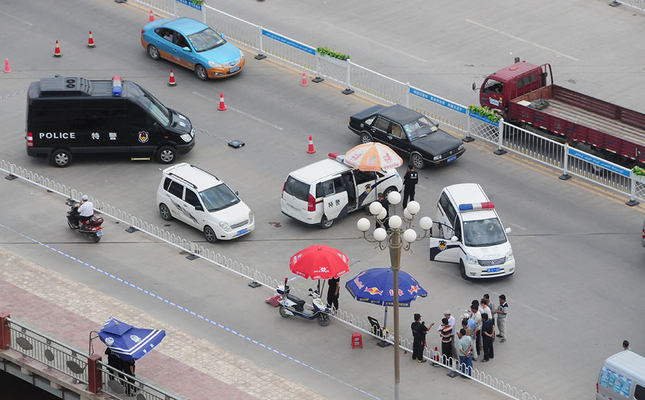 Security controls, police checkpoints, armed security patrols are a part daily life in Urumqi, capital and most populous city of Xinjiang-Uighur Autonomous Region (AA Photo)
