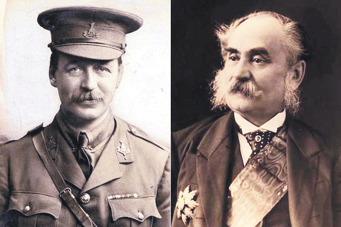 The Sykes-Picot Agreement was concluded in London on May 16, 1916 by English diplomat Mark Sykes (L) and French diplomat Georges Picot (R)
