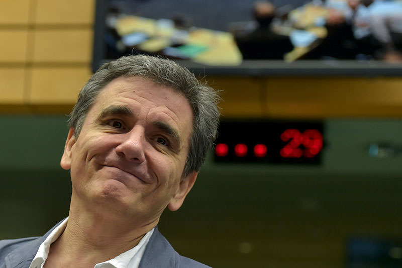 Greek Finance Minister Euclid Tsakalotos takes part in a euro zone finance ministers' meeting on the situation in Greece, in Brussels, Belgium, July 12, 2015 (Reuters Photo)