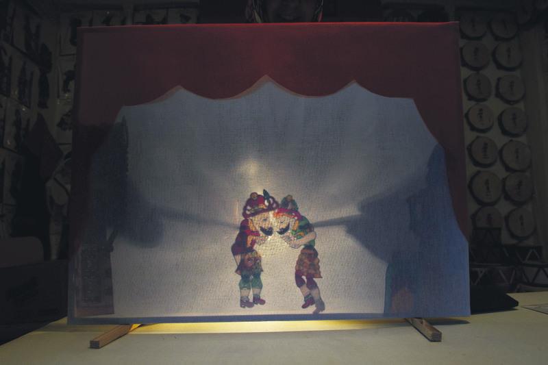 A ,Hacivat and Karagu00f6z, shadow play, a traditional form of Ramadan entertainment.