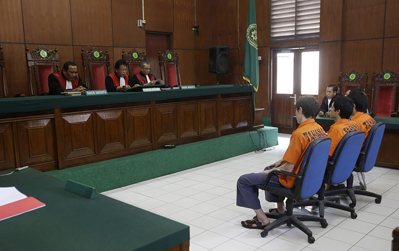 The court has sentenced the men believed to be members of Chinau2019s ethnic Uighur minority community to six years in jail for conspiring with Indonesian terrorists. (AP Photo)
