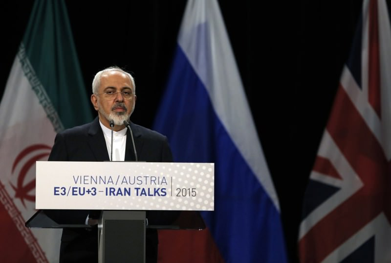 Iranian Foreign Minister Javad Zarif attends a joint news conference at the Vienna International Center, Austria after the historic nuclear deal on Tuesday July 14, 2015.