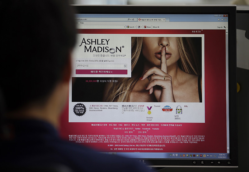 In this June 10, 2015 photo, Ashley Madison's Korean web site is shown on a computer screen in Seoul, South Korea (AP Photo)