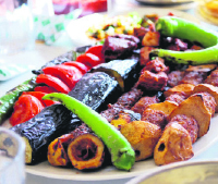 A kebab table from Gaziantep