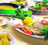 Fish and dishes made from corn flour from Trabzon province