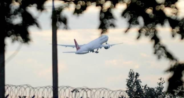 Turkish Airlines Boeing 777 flight  from Istanbul, Turkey.