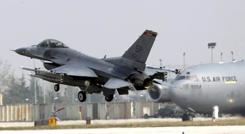 In this file photo a 31st Fighter Wing United State Air Force F-16 jet fighter lands at the Aviano NATO airbase, in Aviano, Italy on March 25, 2011.