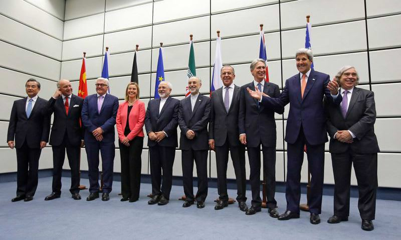 Representatives of Iran and P5 + 1 countries pose after the deal was reached last month.