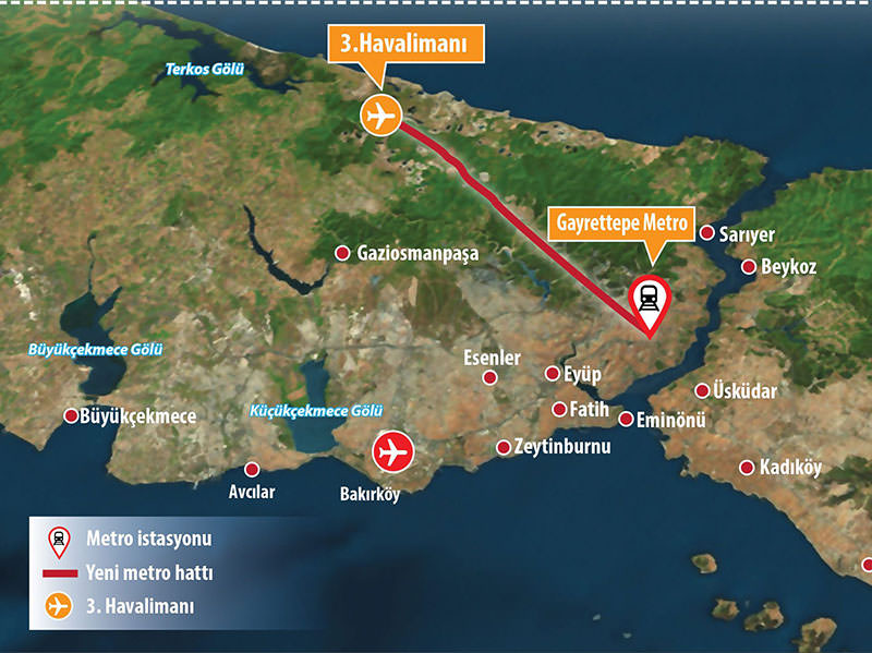 Istanbul Subway Map 2015.Subway Running To 3rd Istanbul Airport To Be Put Out To Tender In