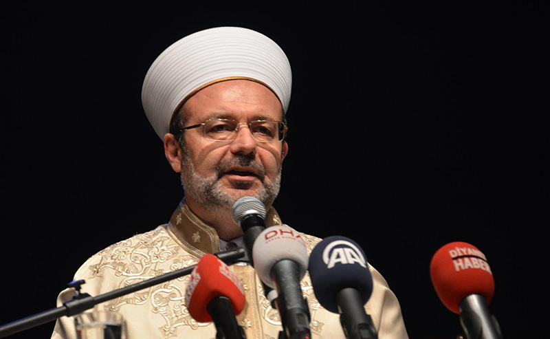 Mehmet Gu00f6rmez, the head of Turkey's Directorate of Religious Affairs (DHA Photo)