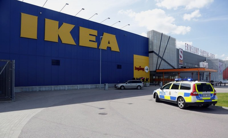 Two people were stabbed to death at the Ikea store in Vasteras and a third person was wounded, police said on August 10, 2015. (AFP Photo)