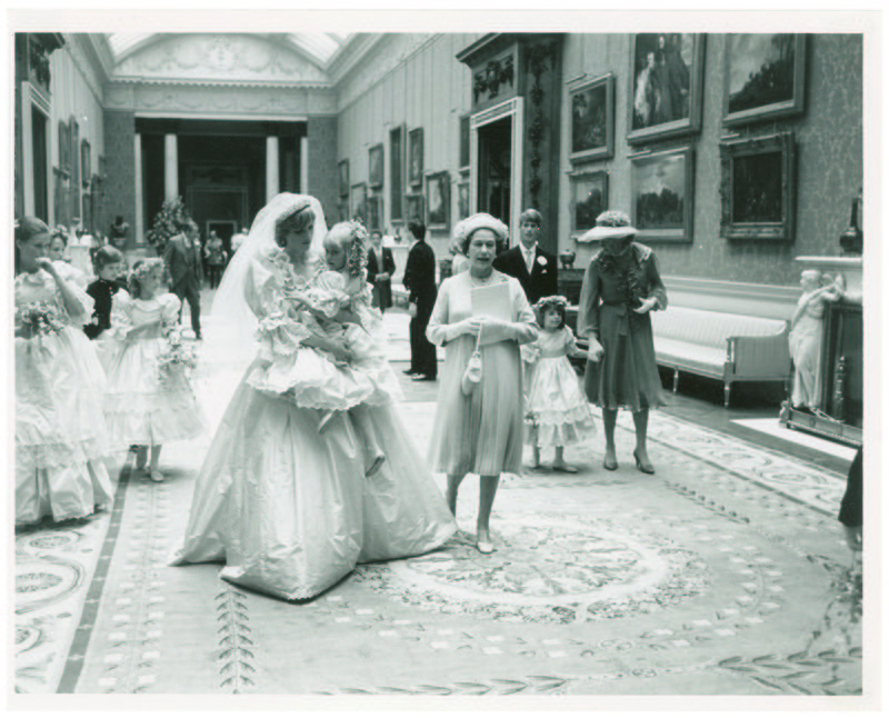Diana Spencer's wedding ceremony with Britain's Prince Charles (unseen) at St Paul's Cathedral on 29 July 1981, in London, Britain. (EPA Photo)