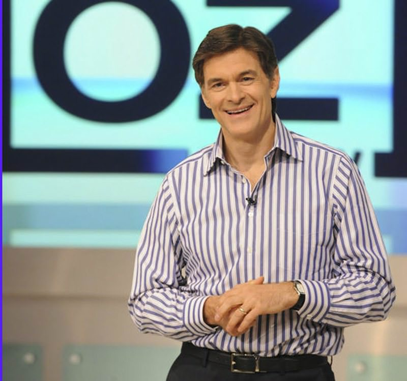 Dr. Mehmet u00d6z is pictured during the production of The Dr. Oz Show in New York. (AP Photo)