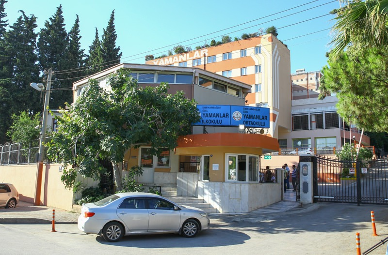 The exterior of a school operated by Gu00fclenists. The Yamanlar College was among schools raided by police yesterday in an operation against the Gu00fclen Movement.